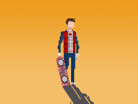 Marty Mcfly + Hoverboard