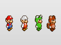 Mario costumes (wallpaper)