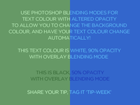Photoshop blending modes tip