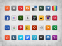 Social Icon Set (Freebie)