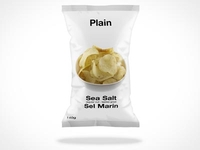 Chip Bag Mockup PSD