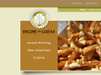 Encore restaurant website re-design