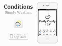 Meet 'Conditions for iOS', a new minimalistic weather app by me!