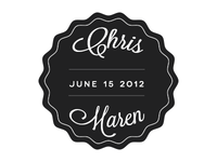 Chris & Maren Wedding Badge