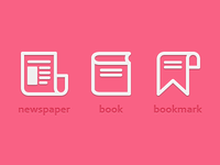 Newspaper Book Bookmark Icon