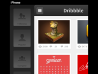 New Dribbble app Popular View