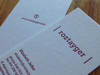 Roztayger Business Card