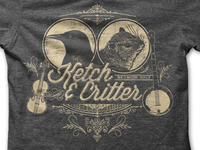 Ketch and Critter t-shirt design