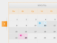 Flight Booking Calendar