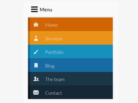 Responsive Menu Mobile - mobile version