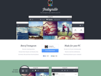 Instagram viewer app landing page