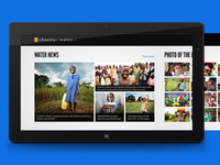 charity: water Windows 8 app