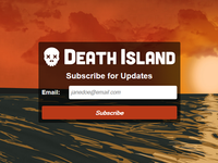 Death Island Subscribe Page