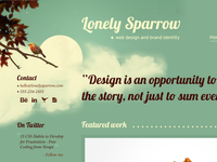 Lonely Sparrow Web Design