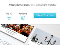 Card Cream Nav / Header