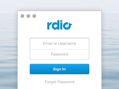 Download rdio Sign In