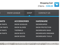 Shop Dropdown