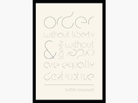 Order Font Poster - First Shot