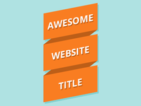 Pure CSS Orange Ribbon Logo