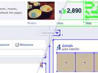 Facebook Timeline for Pages vector GUI