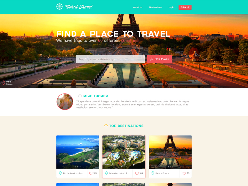 Travel_landing_page