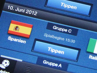 Soccer EURO2012 App - Matches Overview