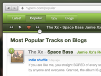 Hype Machine UI (for fun)