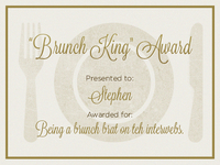 Brunch King Award