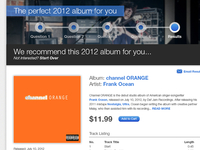 The perfect 2012 album for you