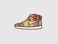 Nike High Top - Pattern