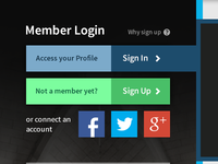 Smaller Login Section