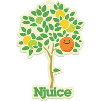 Njuice.com logo and illustration
