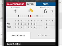 MLB Gamecast page