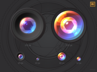 Lenses, vector freebie (AI)