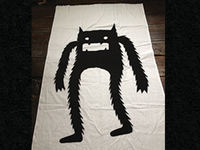 Monster Halloween Window Drape