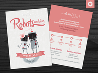 Robots Wedding invitation