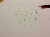 """MJ"" Monogram Draft"