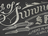 DG • End of Summer Chalk Lettering #1