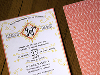Julianna & Thomas Wedding Invite