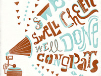 Letterpress CONGRATS card
