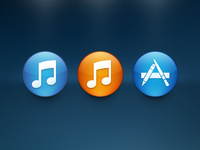 iTunes 11 + Mac App Store Icon