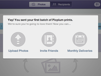 Picplum Modal (after you send your first batch)