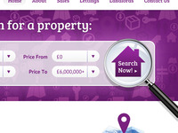 Property Website Search Bar