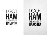 I Got Ham...But I'm Not a Hamster