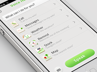 Voice Hleper U iOS iPhone app design | UX interface