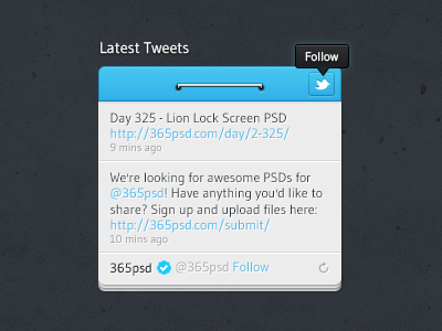 Freebie_twitter_widget_design