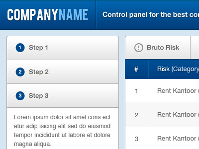 Download Free Control Panel UI