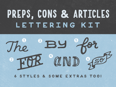 preps, cons, articles kit