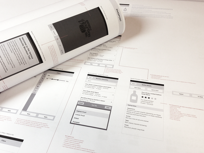 Bourbon Trail App Wireframe