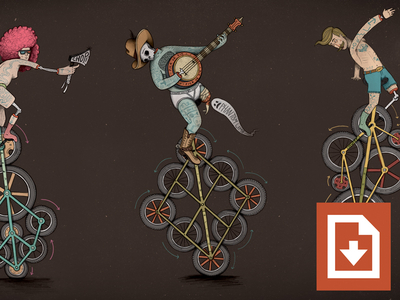 Unicycle Wallpaper Freebie